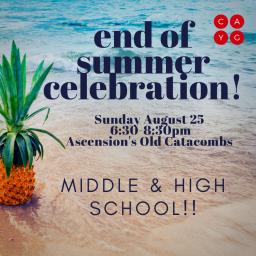 End of Summer Celebration!